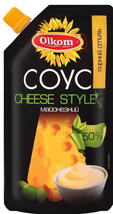 Майонез ТМ Олком ( сырный стиль) 50%  180 грамм