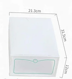 Пластиковый контейнер для хранения обуви 31*21*12см, фото 3