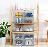 Пластиковый контейнер для хранения обуви 31*21*12см, фото 5