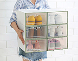 Пластиковый контейнер для хранения обуви 31*21*12см, фото 4