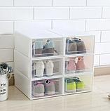 Пластиковый контейнер для хранения обуви 31*21*12см, фото 7