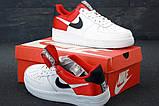 Nike Air Force 1 Low NBA (красно/белые) cas, фото 2
