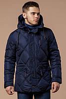 """Куртка мужская зимняя синяя Braggart  """"Dress Code"""", больших размеров, температурный режим -25°С"""