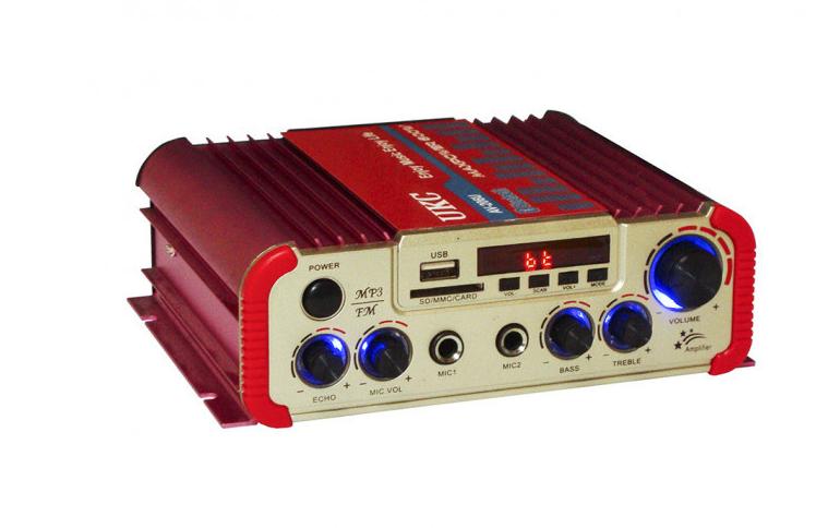 Усилитель звука двухканальный с Karaoke и Bluetooth UKC AV-206U