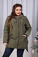 Куртка женская батальная  в расцветках 51719, фото 1