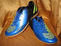 Сороконожки Adidas Predator сине-черные