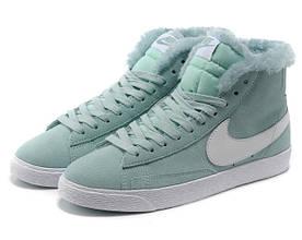 Кроссовки женские зимние Nike Blazer / NR-WNTR-131 (Реплика)