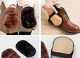 Щетка для обуви шерстяная, чистка и полировка 10х16 см, фото 3
