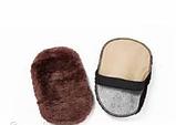Щетка для обуви шерстяная, чистка и полировка 10х16 см, фото 2