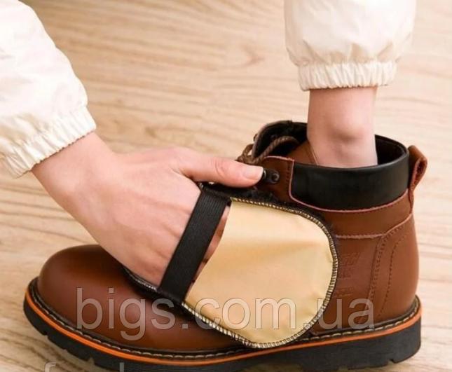 Щетка для обуви шерстяная, чистка и полировка 10х16 см
