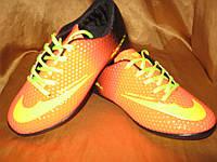 Сороконожки (многошиповки) Nike Mercurial детские оранжевые