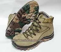 Тактические ботинки ОЛИВА  нубук демосезон
