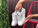 Reebook женские белые демисезонные кроссовки на шнурках, фото 2