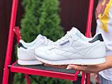 Reebook женские белые демисезонные кроссовки на шнурках, фото 3