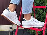 Reebook женские белые демисезонные кроссовки на шнурках, фото 4