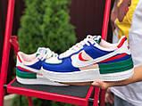 Nike Air женские розовые с синим/зеленые демисезонные кроссовки на шнурках, фото 2