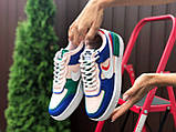 Nike Air женские розовые с синим/зеленые демисезонные кроссовки на шнурках, фото 4