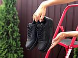 Nike Air женские черные демисезонные кроссовки на шнурках, фото 2