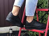 Nike Air женские черные демисезонные кроссовки на шнурках, фото 3