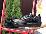 Nike Air женские черные демисезонные кроссовки на шнурках, фото 4