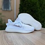 Adidas Yeezy Boost 350 женские белые  демисезонные кроссовки на шнурках, фото 2