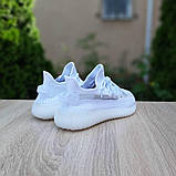 Adidas Yeezy Boost 350 женские белые  демисезонные кроссовки на шнурках, фото 9