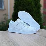 Nike Air Force 1  ' 82 женские белые  демисезонные кроссовки на шнурках, фото 3