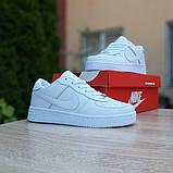 Nike Air Force 1  ' 82 женские белые  демисезонные кроссовки на шнурках, фото 4