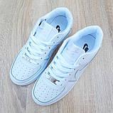 Nike Air Force 1  ' 82 женские белые  демисезонные кроссовки на шнурках, фото 5