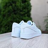 Nike Air Force 1  ' 82 женские белые  демисезонные кроссовки на шнурках, фото 6