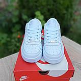 Nike Air Force 1  ' 82 женские белые  демисезонные кроссовки на шнурках, фото 7