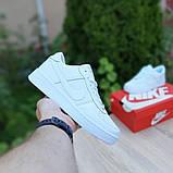 Nike Air Force 1  ' 82 женские белые  демисезонные кроссовки на шнурках, фото 8