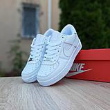 Nike Air Force 1  ' 82 женские белые  демисезонные кроссовки на шнурках, фото 9