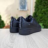 Nike Air Force  женские демисезонные черные кроссовки на шнурках, фото 5