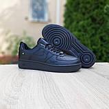Nike Air Force  женские демисезонные черные кроссовки на шнурках, фото 7
