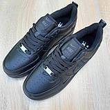 Nike Air Force  женские демисезонные черные кроссовки на шнурках, фото 9