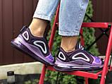 Nike Air Max женские демисезонные фиолетовые кроссовки на шнурках, фото 3