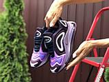 Nike Air Max женские демисезонные фиолетовые кроссовки на шнурках, фото 4