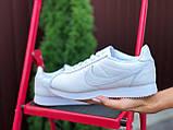 Nike женские демисезонные белые кроссовки на шнурках, фото 2