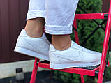 Nike женские демисезонные белые кроссовки на шнурках, фото 3