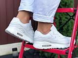 Nike Air Max женские демисезонные белые кроссовки на шнурках, фото 2