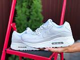 Nike Air Max женские демисезонные белые кроссовки на шнурках, фото 3