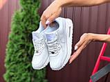 Nike Air Max женские демисезонные белые кроссовки на шнурках, фото 4