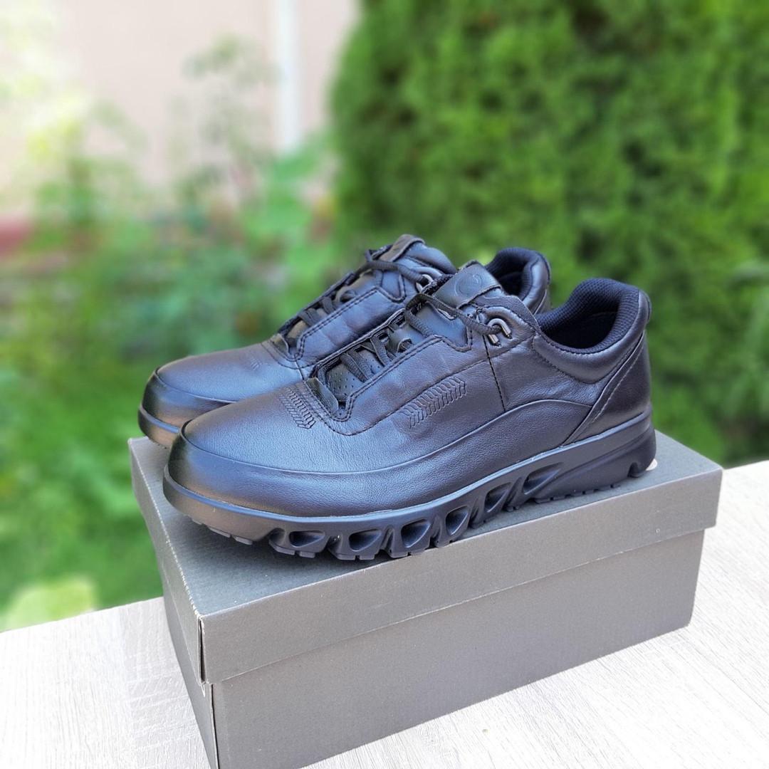 Ecc0 мужские демисезонные черные кроссовки на шнурках