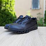 Ecc0 мужские демисезонные черные кроссовки на шнурках, фото 2