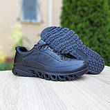 Ecc0 мужские демисезонные черные кроссовки на шнурках, фото 3