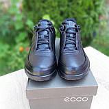 Ecc0 мужские демисезонные черные кроссовки на шнурках, фото 4