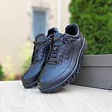Ecc0 мужские демисезонные черные кроссовки на шнурках, фото 5