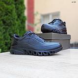 Ecc0 мужские демисезонные черные кроссовки на шнурках, фото 6