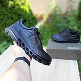 Ecc0 мужские демисезонные черные кроссовки на шнурках, фото 7